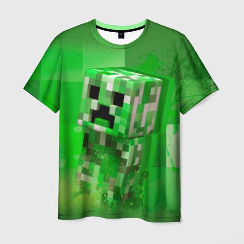 Мужская 3D футболка Minecraft
