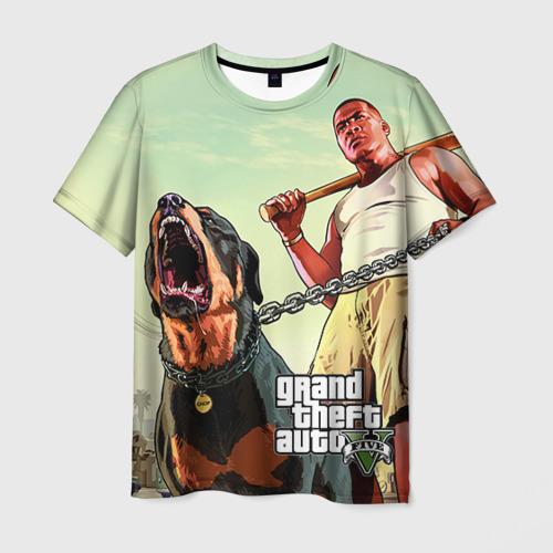 Мужская 3D футболка с принтом GTA, вид спереди #2