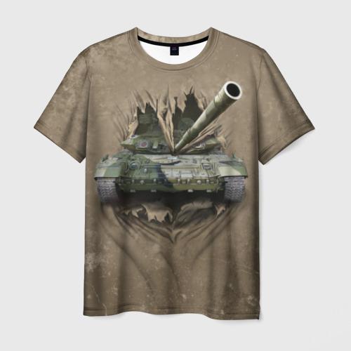 Мужская 3D футболка Танк