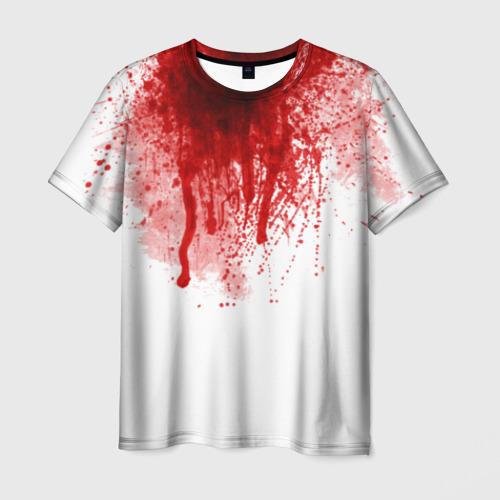 Мужская 3D футболка Кровь