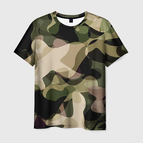 Мужская 3D футболка Камуфляж