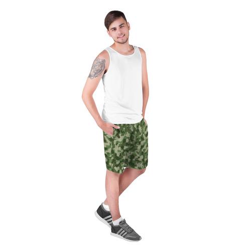 Мужские шорты 3D с принтом Хаки, фото на моделе #1