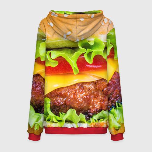 Мужская 3D толстовка с принтом Гамбургер, вид сзади #1