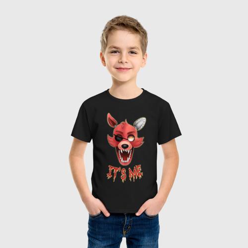 Детская футболка с принтом Five nights at Freddy's Foxy, фото на моделе #1
