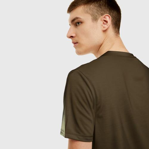 Мужская 3D футболка с принтом Военная разведка, вид сзади #2