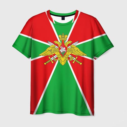 Мужская 3D футболка Пограничные войска