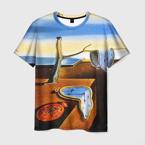 Мужская 3D футболка Сальвадор Дали - Постоянство Памяти