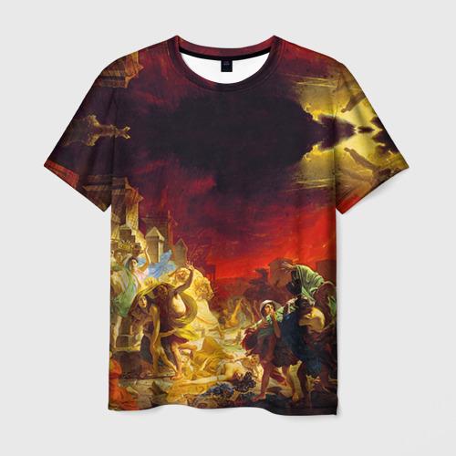 Мужская 3D футболка Брюллов - Последний день Помпеи