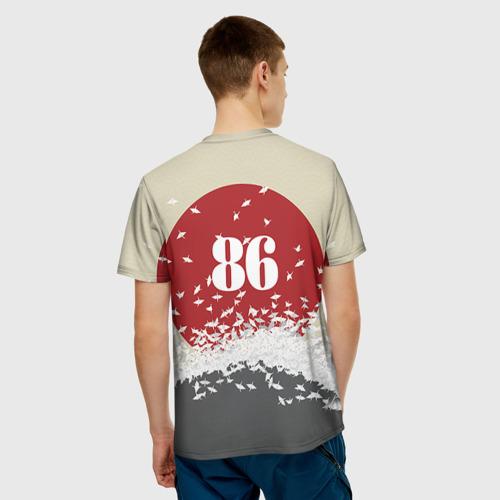 Мужская 3D футболка с принтом Toyota Trueno ae86, вид сзади #2