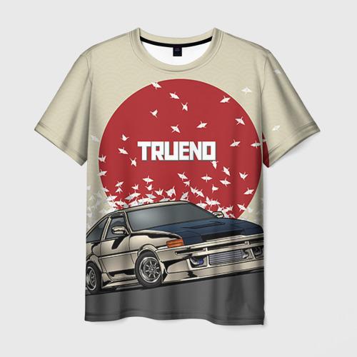 Мужская 3D футболка с принтом Toyota Trueno ae86, вид спереди #2