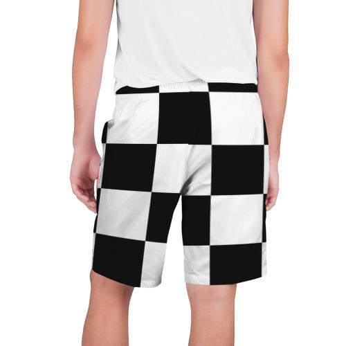 Мужские шорты 3D с принтом Клетка, вид сзади #1