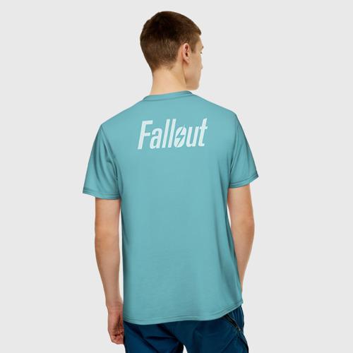 Мужская 3D футболка с принтом Новогодний Fallout, вид сзади #2