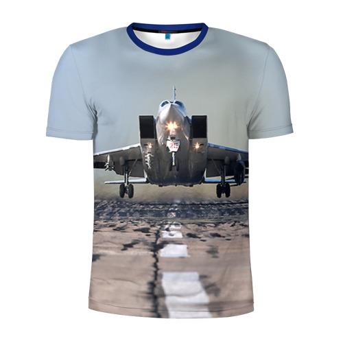 Мужская футболка 3D спортивная Самолёт