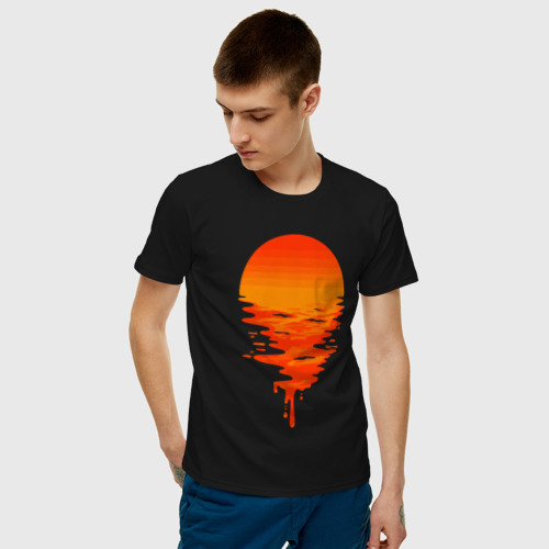 Мужская футболка с принтом Sunset, фото на моделе #1