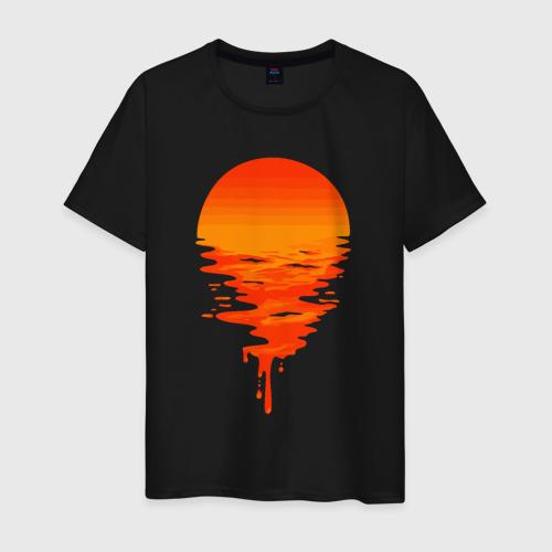 Мужская футболка с принтом Sunset, вид спереди #2