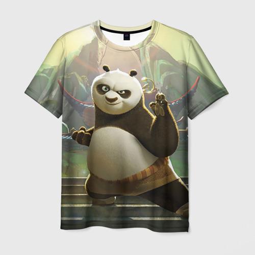 Мужская 3D футболка Кунг фу панда
