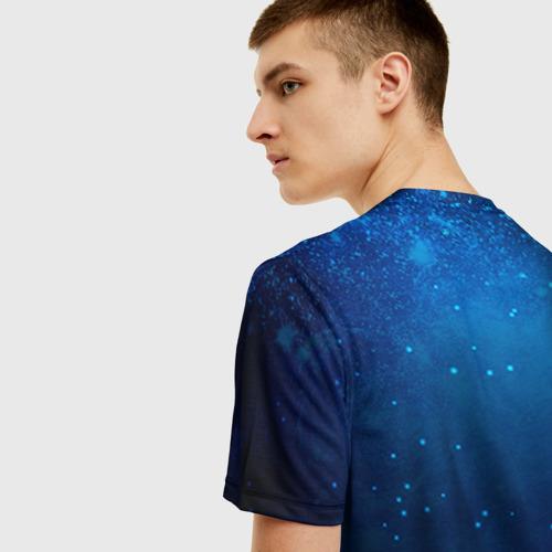 Мужская 3D футболка с принтом Телец, вид сзади #2
