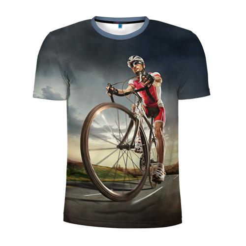 Мужская футболка 3D спортивная Велогонщик