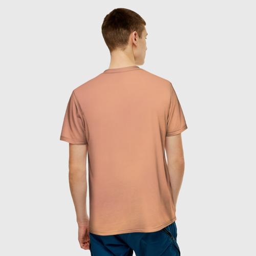 Мужская 3D футболка с принтом Тревор, вид сзади #2