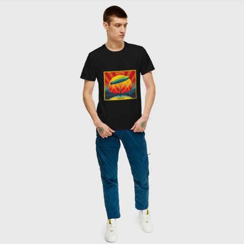 Мужская футболка с принтом Led Zeppelin, вид сбоку #3