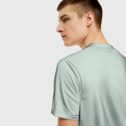 Мужская 3D футболка с принтом Русский медведь, вид сзади #2