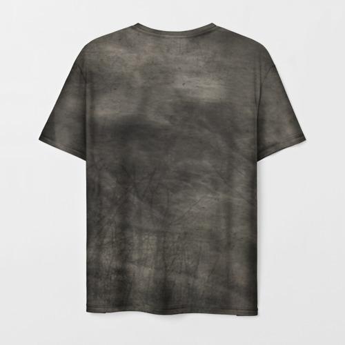 Мужская 3D футболка с принтом Мопс, вид сзади #1