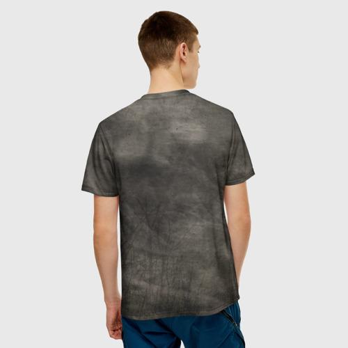 Мужская 3D футболка с принтом Мопс, вид сзади #2