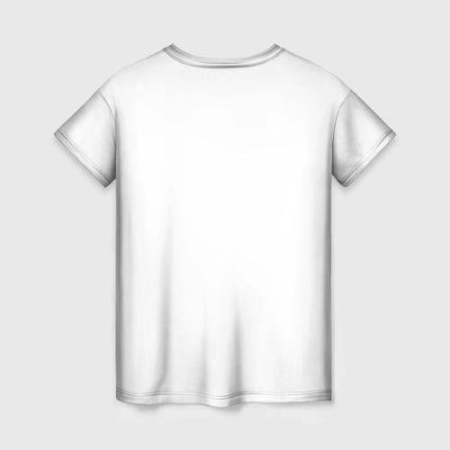 Женская 3D футболка с принтом Ротвейлер, вид сзади #1