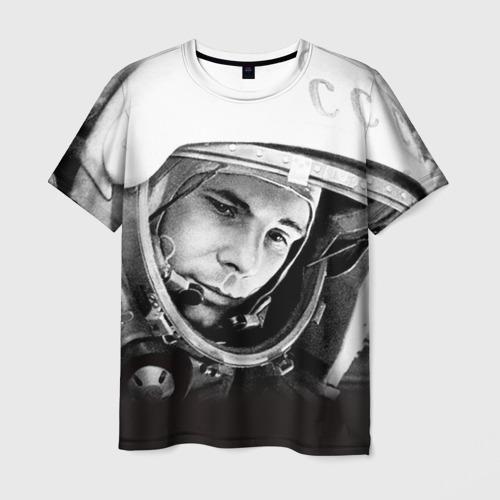 Мужская 3D футболка Гагарин 1