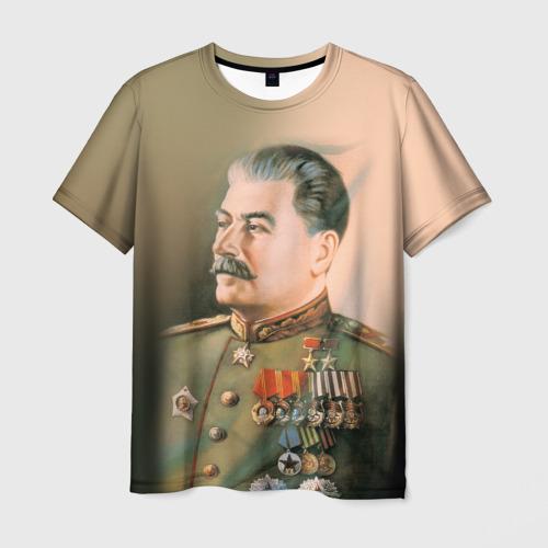 Мужская 3D футболка Сталин 1