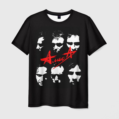 Мужская 3D футболка с принтом Алиса 2, вид спереди #2