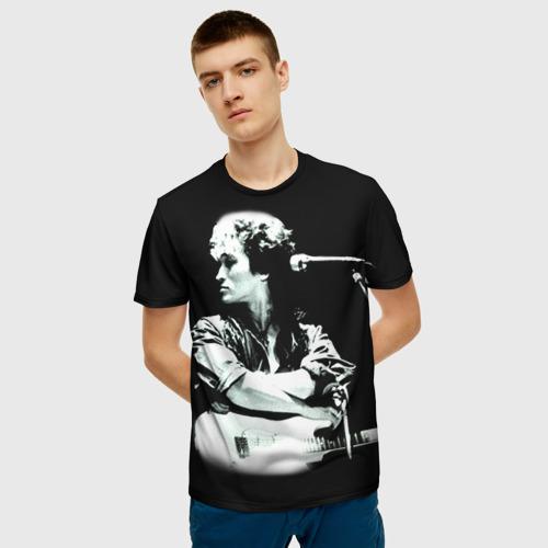 Мужская 3D футболка с принтом Цой 2, фото на моделе #1