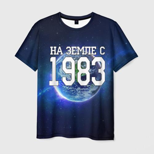 Мужская 3D футболка На Земле с 1983