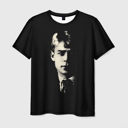 Мужская 3D футболка с принтом Есенин, вид спереди #2