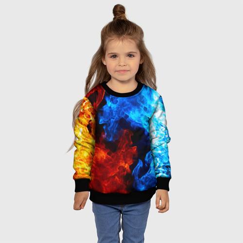 Детский 3D свитшот с принтом Битва огней, фото #4