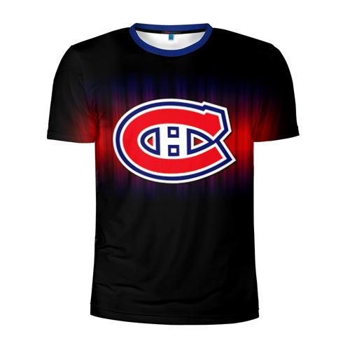 Мужская футболка 3D спортивная с принтом Монреаль Канадиенс, вид спереди #2