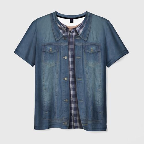 Мужская 3D футболка Джинсовка