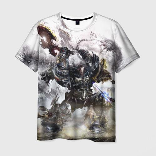 Мужская 3D футболка Космоволк