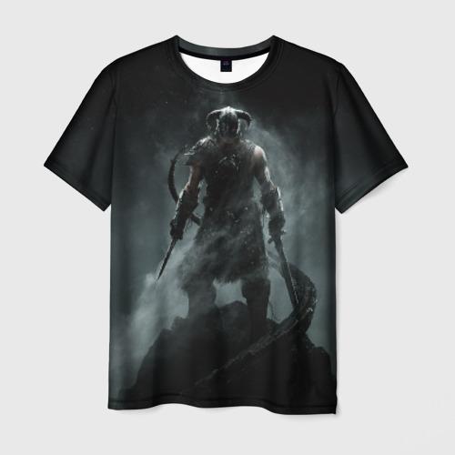 Мужская 3D футболка с принтом Skyrim, вид спереди #2