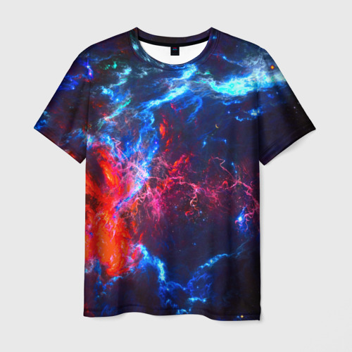Мужская 3D футболка Космос