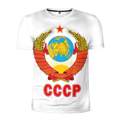 Мужская футболка 3D спортивная Герб СССР