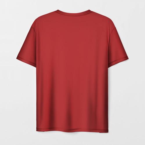 Мужская 3D футболка с принтом Джеки Чан, вид сзади #1