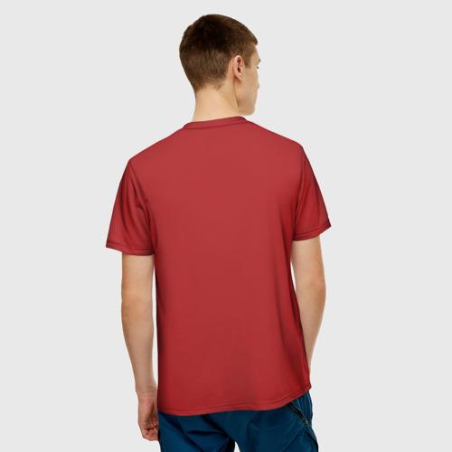 Мужская 3D футболка с принтом Джеки Чан, вид сзади #2