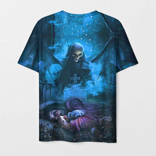 Мужская 3D футболка с принтом Avenged Sevenfold, вид сзади #1