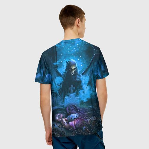 Мужская 3D футболка с принтом Avenged Sevenfold, вид сзади #2