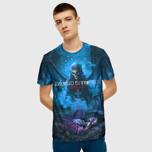 Мужская 3D футболка с принтом Avenged Sevenfold, фото на моделе #1