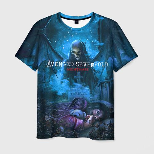 Мужская 3D футболка с принтом Avenged Sevenfold, вид спереди #2