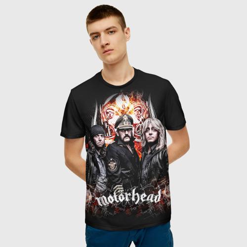 Мужская 3D футболка с принтом Motorhead, фото на моделе #1