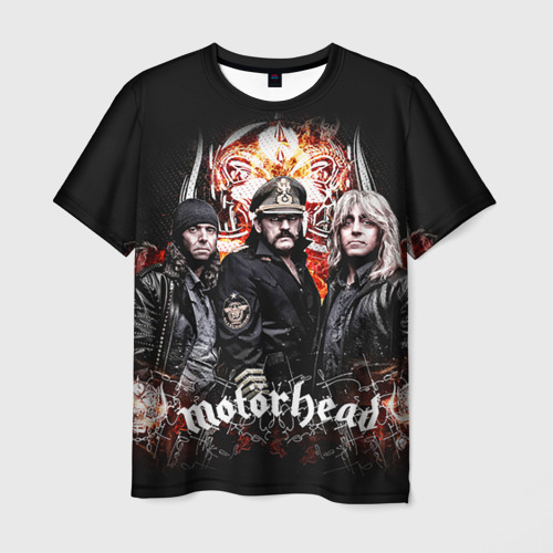 Мужская 3D футболка с принтом Motorhead, вид спереди #2