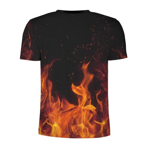 Мужская футболка 3D спортивная с принтом Devil, вид сзади #1